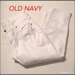 OLD NAVY Jeans - LADIES JEANS. WHITE. OLD NAVY. SIZE 12